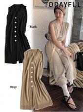 TODAYFUL(トゥデイフル)<br>Knit Long Vest  19春夏【11910528】ベスト