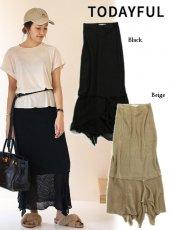 TODAYFUL(トゥデイフル)<br>Linen Knit Skirt  19春夏【11910807】タイトスカート
