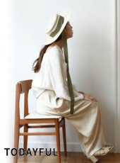 TODAYFUL(トゥデイフル)<br>Ribbon Boater Hat  19春夏予約【11911022】帽子