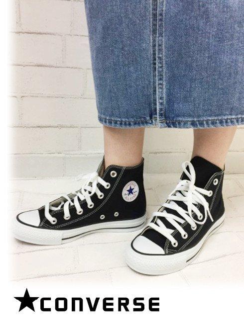 converse(コンバース)<br>キャンバスオールスターHI ブラック 【32060181】スニーカー