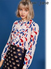 sister jane(シスタージェーン)<br>Bow Blouse in Abstract Print  19春夏【19SJ01BL798MUL】シャツ・ブラウス