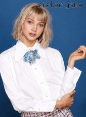 sister jane(シスタージェーン)<br>Retro Collar Shirt with Bow  19春夏【19SJ01BL800IVO】シャツ・ブラウス