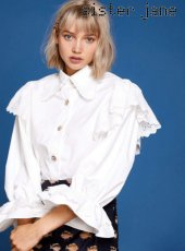 sister jane(シスタージェーン)<br>Flare Sleeve Blouse in Cotton  19春夏【19SJ01BL801IVO】シャツ・ブラウス