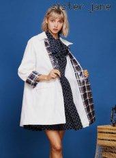 sister jane(シスタージェーン)<br>Rain Coat with Check Cuffs  19春夏【19SJ01CT025IVO】トレンチコート