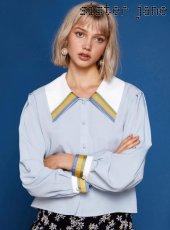sister jane(シスタージェーン)<br>Wide Collar Blouse  19春夏【19SJ01BL803BLE】シャツ・ブラウス