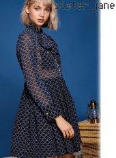 sister jane(シスタージェーン)<br>Rope Print Mini Dress  19春夏【19SJ01DR1027NVY】フレアワンピース