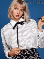 sister jane(シスタージェーン)<br>Stripe Shirt  19春夏【19SJ01BL808GRN】シャツ・ブラウス