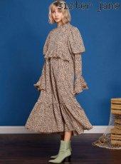 sister jane(シスタージェーン)<br>Leopard Maxi Dress  19春夏【19SJ01DR1030BGE】フレアワンピース