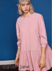 sister jane(シスタージェーン)<br>Smock Dress in Pink Texture  19春夏【19SJ01DR1032PNK】フレアワンピース