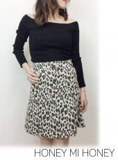 Honey mi Honey (ハニーミーハニー)<br>leopard skirt  19春夏【19S-TA-17】タイトスカート19ssfs
