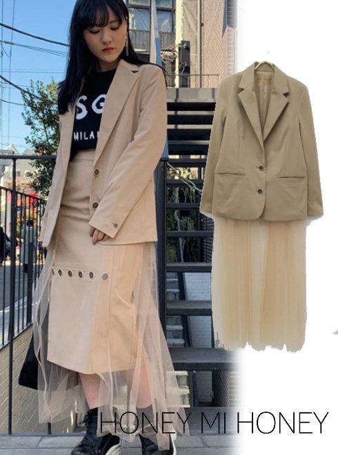 Honey mi Honey (ハニーミーハニー)<br>tulle jacket  19春夏【19S-TA-22】ジャケット19ssfs sale