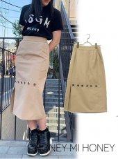 Honey mi Honey (ハニーミーハニー)<br>button skirt  19春夏【19S-TA-23】タイトスカート19ssfs