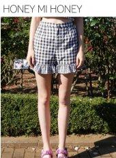 Honey mi Honey (ハニーミーハニー)<br>gingham shortpants  19春夏【19S-TA-38】ショートパンツ19ssfs