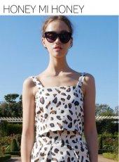 Honey mi Honey (ハニーミーハニー)<br>leopard print camisole  19春夏予約【19S-VG-18】キャミソール・ベアトップ・ビスチェ
