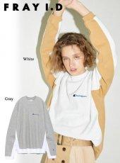 FRAY I.D(フレイアイディー)<br>チャンピオンバイカラーラグランプルオーバー  19春夏【FWCT191003】Tシャツ19ssfs