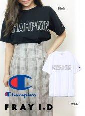 FRAY I.D(フレイアイディー)<br>チャンピオンロゴTシャツ  19春夏【FWCT191002】Tシャツ 19ssfs