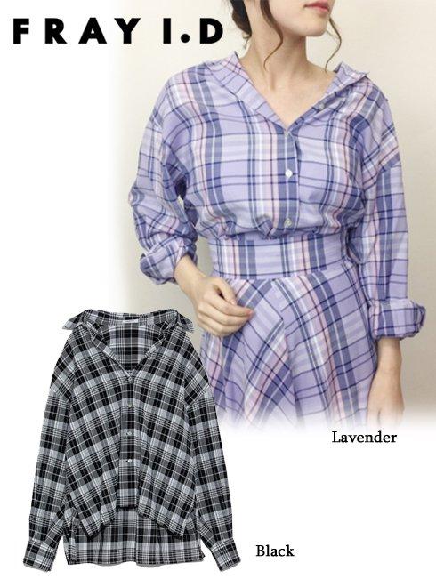 FRAY I.D(フレイアイディー)<br>チェックシャツ  19春夏【FWFB191173】シャツ・ブラウス19ssfs sale