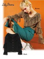 Lily Brown(リリーブラウン)<br>フリルブラウス  19春夏【LWFB191121】シャツ・ブラウス19ssfs