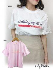 Lily Brown(リリーブラウン)<br>スパンコールTシャツ  19春夏【LWCT191123】Tシャツ19ssfs