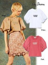 Lily Brown(リリーブラウン)<br>ボリューム袖Tシャツ  19春夏2【LWCT191075】Tシャツ19ssfs