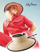Lily Brown(リリーブラウン)<br>ブレードサンバイザー  19春夏【LWGH191333】帽子19ssfs