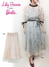 Lily Brown(リリーブラウン)<br>Barbieレイヤードスカート  19春夏【LWFS191201】フレアスカート