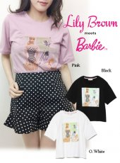 Lily Brown(リリーブラウン)<br>BarbieビーチプリントTシャツ  19春夏【LWCT191203】Tシャツ
