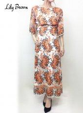 Lily Brown(リリーブラウン)<br>お花レースロングスカート  19春夏【 LWFS191090】ロング・マキシスカート19ssfs