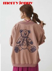 merry jenny (メリージェニー)<br>teddy刺繍ブルゾン  19春夏【281910100101】ブルゾン19ssfs