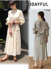 TODAYFUL(トゥデイフル)<br>Crape Apron Dress  19春夏.【11910333】フレアワンピース  19ssfs