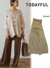 TODAYFUL(トゥデイフル)<br>Geometric Knit Pants  19春夏.予約【11910718】パンツ