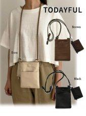 TODAYFUL(トゥデイフル)<br>Leather Mini Sacoche  19春夏.【11911072】ハンド・ショルダーバッグ