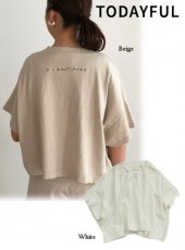 TODAYFUL(トゥデイフル)<br>'I DON'T MIND' T-shirts  19春夏.【11910637】Tシャツ