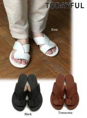 TODAYFUL(トゥデイフル)<br>Leather Cross Sandals  19春夏.【11911066】サンダル