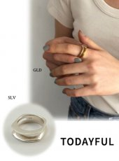 TODAYFUL(トゥデイフル)<br>Cutting Line Ring (Silver925)  19春夏.【11910930】リング