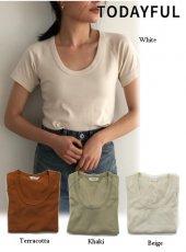 TODAYFUL(トゥデイフル)<br>Roundneck Raglan T-shirts  19春夏.【11910649】Tシャツ