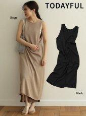 TODAYFUL(トゥデイフル)<br>Knit Apron Dress  19春夏.【11910324】マキシワンピース