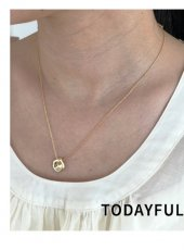 TODAYFUL(トゥデイフル)<br>Nuance Plate Necklace (Silver925)  19春夏.【11910941】ネックレス