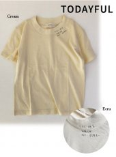 TODAYFUL(トゥデイフル)<br>Embroidery T-shirts  19春夏.【11910646】Tシャツ  19ssfs