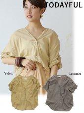 TODAYFUL(トゥデイフル)<br>Collarless Voile Shirts  19春夏.【11910438】シャツ・ブラウス