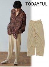 TODAYFUL(トゥデイフル)<br>Centerpress Knit Pants  19春夏.【11910730】パンツ