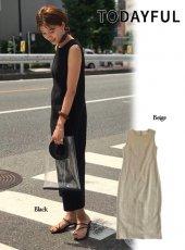 TODAYFUL(トゥデイフル)<br>Cotton Linen Dress  19春夏.【11910321】フレアワンピース