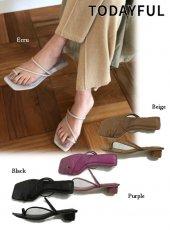 TODAYFUL(トゥデイフル)<br>Squaretoe Strap Sandals  19春夏.【11911064】サンダル