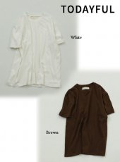 TODAYFUL(トゥデイフル)<br>Brushed Over T-shirts  19春夏.予約【11910628】Tシャツ