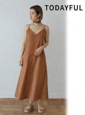 TODAYFUL(トゥデイフル)<br>Camisole Tie Dress  19春夏.【11910338】フレアワンピース