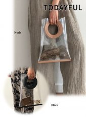 TODAYFUL(トゥデイフル)<br>Leatherhandle Clear Bag  19春夏.【11911080】ハンド・ショルダーバッグ