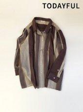 TODAYFUL(トゥデイフル)<br>Sheer Stripe Shirts  19春夏.【11910431】シャツ・ブラウス