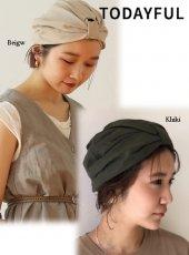 TODAYFUL(トゥデイフル)<br>Gather Turban Cap  19春夏.【11911071】帽子