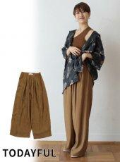 TODAYFUL(トゥデイフル)<br>Waist Tuck Pants  19春夏.予約【11910727】パンツ