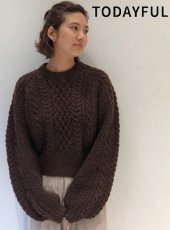 TODAYFUL(トゥデイフル)<br>Cable Wool Knit  19秋冬予約【11920501】ニットトップス 受注会